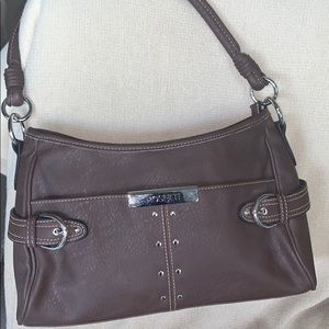 NWOT Rossetti Brown hand bag W/silver hardware